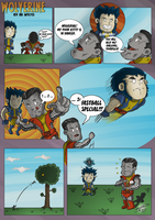 Chibi Wolverine and Colossus by BouncieD