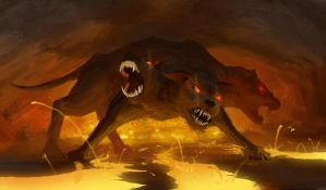 cerberus speedpainting by EthicallyChallenged