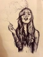 Smoking girl by nrobinson00