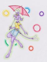Art Trade: October the Espeon by lunixesquire