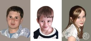 Kids' portraits by Jelli76