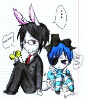 Ciel in notebook by Peach-8D