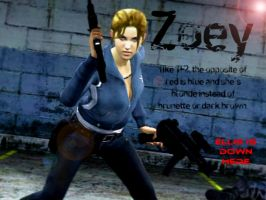 Left 4 Dead Zoey by LordHayabusa357