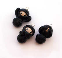 Polymer clay Ninjas of Goodnes by SeaOfCreations