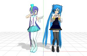 MMD Aoki and Ring DOWNLOAD by DarkAliceSugintou