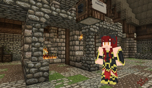 Red Haired Demon Minecraft Skin by Kon13