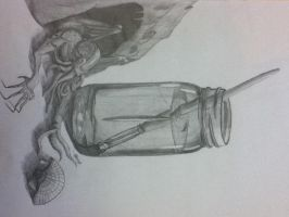 A jar, and there's Cthulu over there just chillin' by mattypoo5000