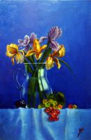 Irises and Grapes 2 by v-a-m-p-i-r-o