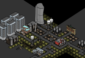 Inficity - Isometric City Design in Process by Pullerwhip