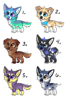 [OPEN] Puppy Adopts #3- Flat-priced! by Starrypoke