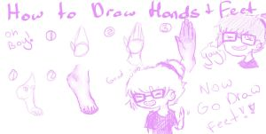 how to draw hand's and feet by eco-anime