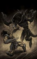 Predator vs. Alien by timswit