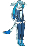 Shiny Anthro Glaceon by Shadow-Pikachu6