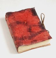 Red maple tree leaves journal by gildbookbinders