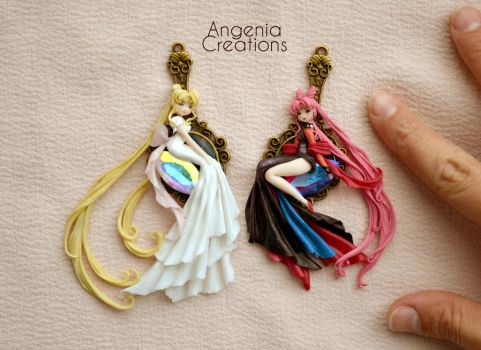 princess serenity and black moon ( sold out) by AngeniaC