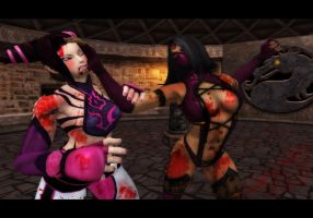 Mileena vs. Juri by 1kamz