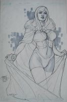 Emma Frost C2E2 2010 by TerryDodson