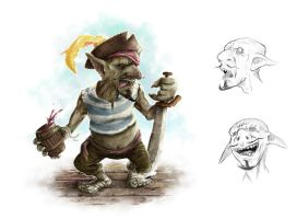 Goblin pirate by RAAKILE