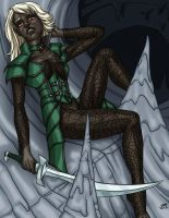 Drow Druidess in color by ProdigyDuck