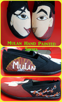 Hand Painted Mulan Shoes by maja135able