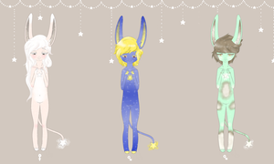 {CLOSED} Starmonies Adopt Sheet 1 (COMMONS) by FeiFeiJi