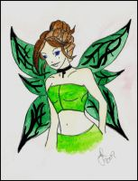 fairy watercolor painting by SwtCreations