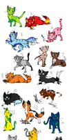 26 Cat Adoptables :CLOSED: by Fluffy-Bearr