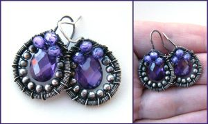 silver and purple cz by annie-jewelry
