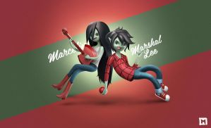 Marceline and Marshal Lee by Melaamory