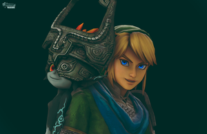 Hyrule Warriors- Midna and Link by Flare-Chaser