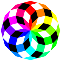 dodecagon crazy colors by 10binary
