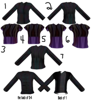MMD Female Shirts by mbarnesMMD
