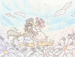 Madoka Magica _ She dreamt of Paradise by Arwen-chan