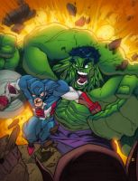 Avengers: Hulk and Cap. by AlonsoEspinoza