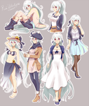 The outfits of Rei by Wanini