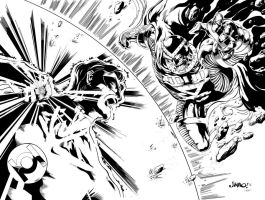 Green Lantern vs Black Hand by MindWinder