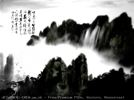 Chinese Ink Painting by SET07