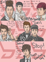Block B Valentine's Cards by Master-Juiceboxx