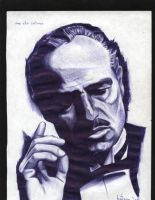 don vito corleone by Jim-Dacuycoy