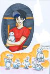 Bh6 Tadashi and mini baymax by nongost1