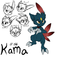 Kama ref sheet by 0okamiseishin
