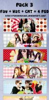 Pack cover 3 - Happy 6th anniversary SNSD by tylovelycool