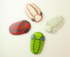 Fused Glass Trilobite Belt Buckles Genu8s Phacops by trilobiteglassworks