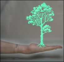 Hand Tree Light Stencil by truemarmalade