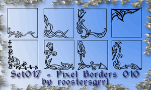 Set 017 - Pixel Borders 010 by wolfgrrlone