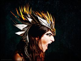 Birdsong metal headdress by thecolorfulspider