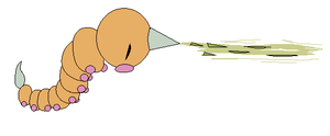 Weedle Used Poison Sting by Kainaa