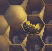 Asleep In The Brood Comb by DimeSpin