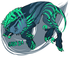 Green Sea Arcanus Adopt [CLOSED] by Velkss