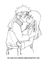Naruto and Hinata Kiss 2 by Pia-sama